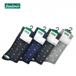 Semlouis 4 In 1 Men's Quarter Crew Socks - Printed Square & Dots