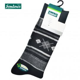 image of Semlouis 4 In 1 Men's Quarter Crew Socks - Line & Argyle