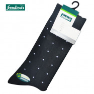 image of Semlouis 4 In 1 Men's Quarter Crew Socks - Printed Dots With Square Lines