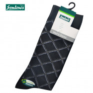 image of Semlouis 3 In 1 Men's Quarter Crew Socks - Crossed Lines