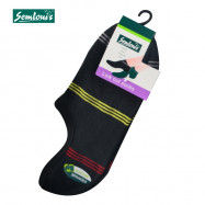 image of Semlouis 4 In 1 Men's Low Cut Socks - 3-Lined Stripes