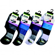 image of Semlouis 4 In 1 Men's Low Cut Socks - Wide Stripe