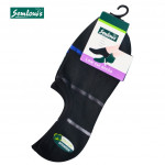 Semlouis 4 In 1 Men's Low Cut Socks - 3 Thin Stripes
