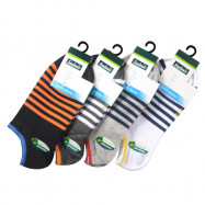 image of Semlouis 4 In 1 Sport Low Cut Socks - 8 Lines Pattern