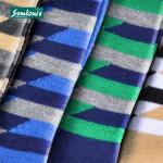 Semlouis 4 In 1 Men's Quarter Crew Socks - Geometric Pattern