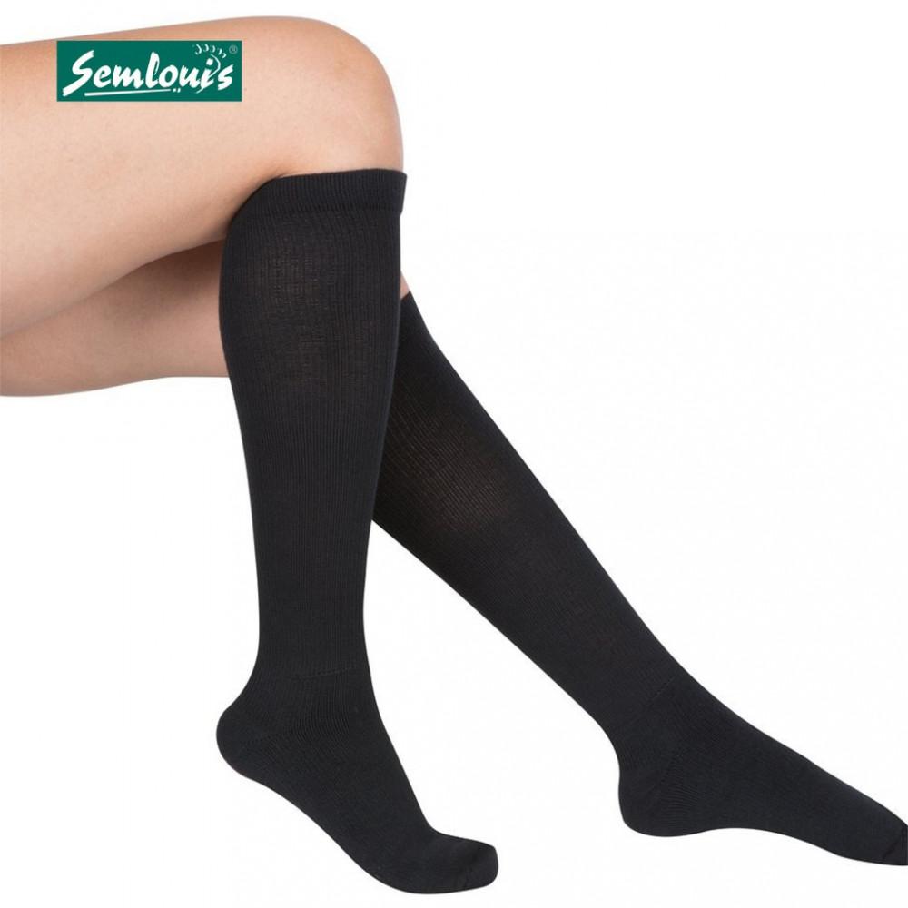 Semlouis (4 In 1 X 2 Packs) Aurat Sarung Kaki Paras Lutut -Nipis Teksture Garis