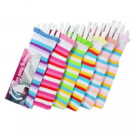 image of Semlouis 2 In 1 Sun Sleeve Ladies - Lines & Stripes