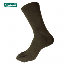 image of Semlouis 2 In 1 Toe Socks Ankle High - Dark Green
