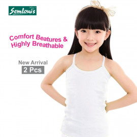 image of Semlouis Kid's Girl 2 In 1 Singlet & Camisole Camisole - Spaghetti Strap