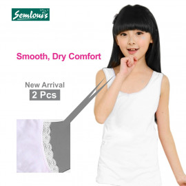 image of Semlouis Kid's Girl 2 In 1 Singlet & Camisole Camisole - Wide Strap Camisole