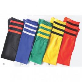 image of Semlouis Football Single Cylinder Socks - Triple Stripes