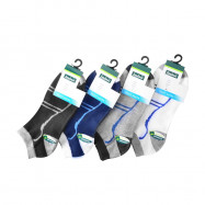image of Semlouis 4 In 1 Sport Ankle Socks - Curve With Lines