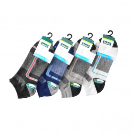 image of Semlouis 4 In 1 Sport Ankle Socks - Thin Stripes