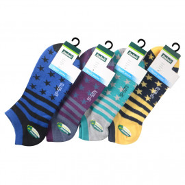 image of Semlouis 4 In 1 Sport Low Cut Socks - Stars & Stripes