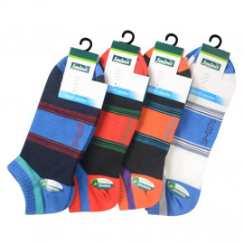 image of Semlouis 4 In 1 Sport Low Cut Socks - Mix Colour Stripes