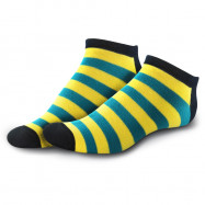image of Semlouis 4 In 1 Sport Low Cut Socks - Colourful Stripes