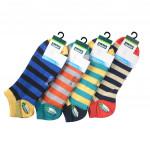 Semlouis 4 In 1 Sport Low Cut Socks - Colourful Stripes