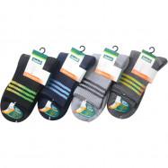 image of Semlouis 2 In 1 Sport Quarter Crew Cushion Base Socks - 3 Lines Pattern