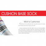 Semlouis 2 In 1 Sport Quarter Crew Cushion Base Socks - 3 Lines Pattern