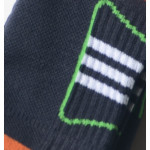 Semlouis 3 In 1 Sport Quarter Crew Cushion Base Socks - 3 Lines In Square