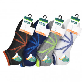 image of Semlouis 3 In 1 Sport Low Cut Cushion Base Socks - Sunburst Lines