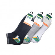 image of Semlouis 3 In 1 Sport Ankle Cushion Base Socks - Extra Thick Plain