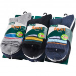 Semlouis Sport Quarter Crew Cushion Socks - Basic Design With Lines (6 In 1)