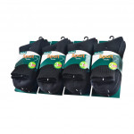 Semlouis 6 In 1 Sport Quarter Crew Cushion Base Socks - Black