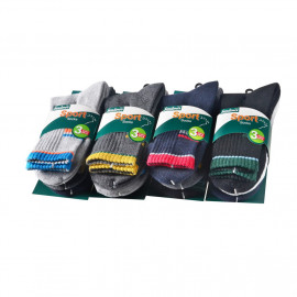 image of Semlouis 6 In 1 Sport Quarter Crew Cushion Base Socks - Basic Design