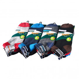 image of Semlouis 6 In 1 Sport Ankle Cushion Base Socks - Basic Design With Lines