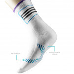 Semlouis 6 In 1 Sport Ankle Cushion Base Socks - Basic Design With Lines