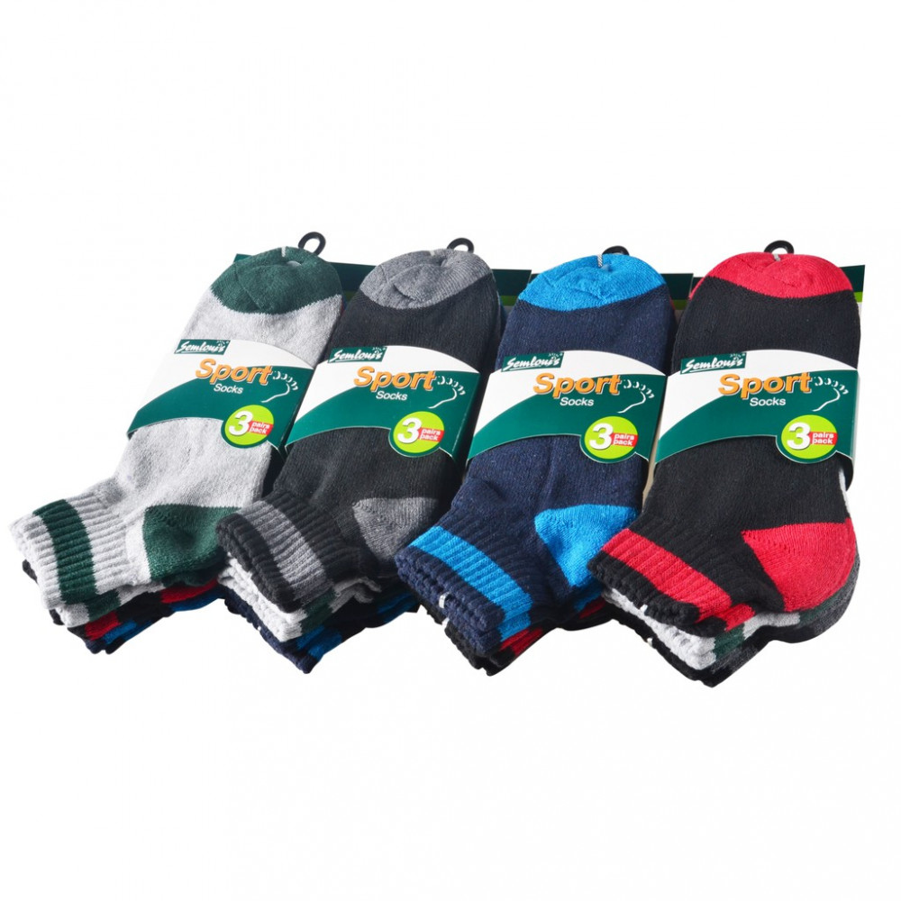 Semlouis 6 In 1 Sport Ankle Cushion Base Socks - Basic Design