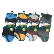 image of Semlouis 6 In 1 Sport Low Cut Cushion Base Socks - Basic Design With Lines
