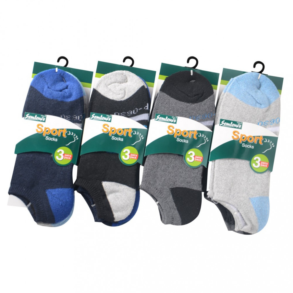 Semlouis 6 In 1 Sport Low Cut Cushion Base Socks - Basic Design