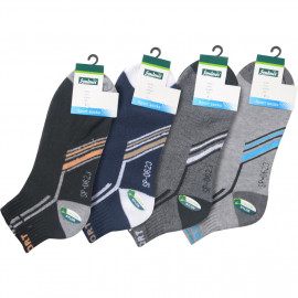 image of Semlouis 4 In1 Sport Ankle Cushion Base Socks - Tilted Lines