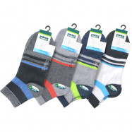 image of Semlouis 4 In 1 Sport Ankle Cushion Base Socks - Vertical Lines