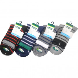 image of Semlouis 4 In 1 Sport Ankle Cushion Base Socks - Coloured Lines