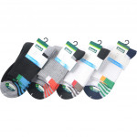 Semlouis 4 In 1 Sport Quarter Crew Cushion Base Socks - Lines Base