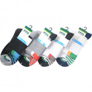 image of Semlouis 4 In 1 Sport Quarter Crew Cushion Base Socks - Lines Base