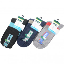 image of Semlouis 3 In 1 Sport Quarter Crew Cushion Base Socks - Plain Colour