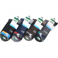 image of Semlouis 4 In 1 Sport Quarter Crew Cushion Base Socks -Dark Colour With Patterns