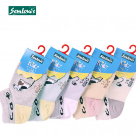 image of Semlouis Children Ankle Socks - Cat