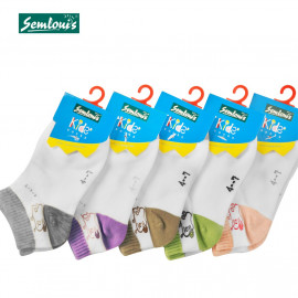 image of Semlouis Children Ankle Socks - Snail