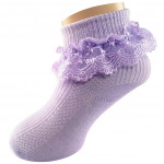 Semlouis Lace Children Ankle Socks - Ribbon & Daisy Embroidered Lace