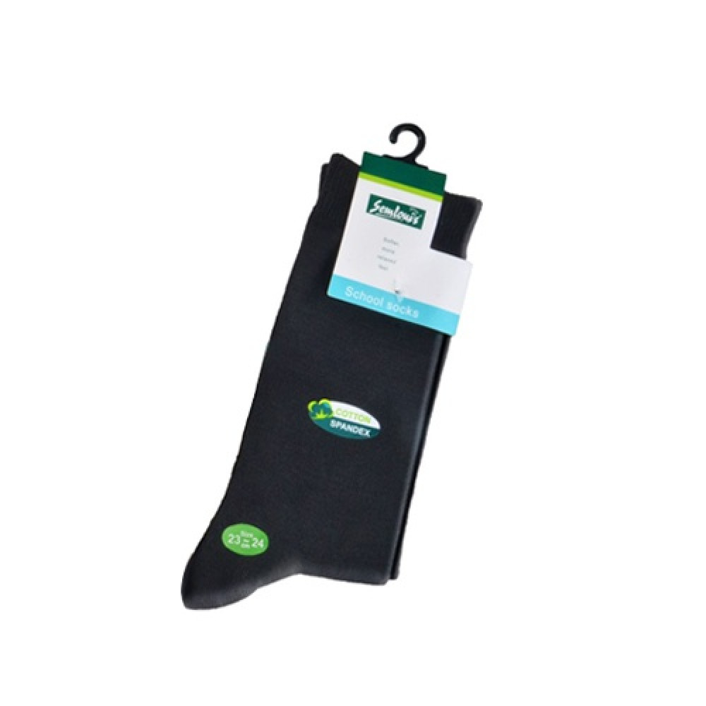 Semlouis 3 In 1 School Sock - Black