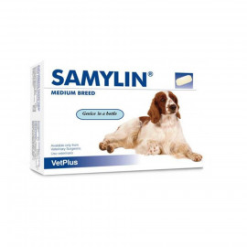 image of Ready Stock ~Samylin 30 Tablets Liver Supplyment For Medium Dog (11-30kg)