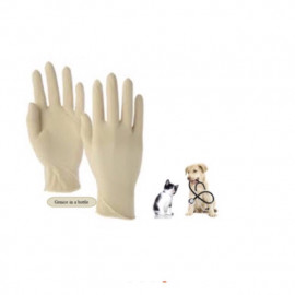 image of ALLCARE Powdered Latex Examination Gloves - 100'S/Box ( S )