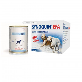 image of Canine Mobility C2P 12 WET Canned & SYNOQUIN For Large Dogs 120 Cap( FREE GIFT)