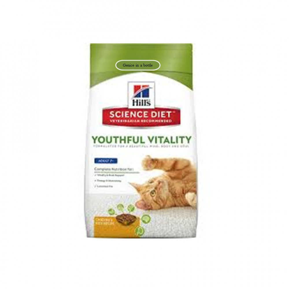 Hill's Science Diet Youthful Vitality Adult 7+ Dry Cat Food 1.36kg ( PRE ORDER )