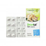 image of BEST !!! Drontal Cat Wormer/ Ubat Cacing Untuk Kucing 1 Tablet